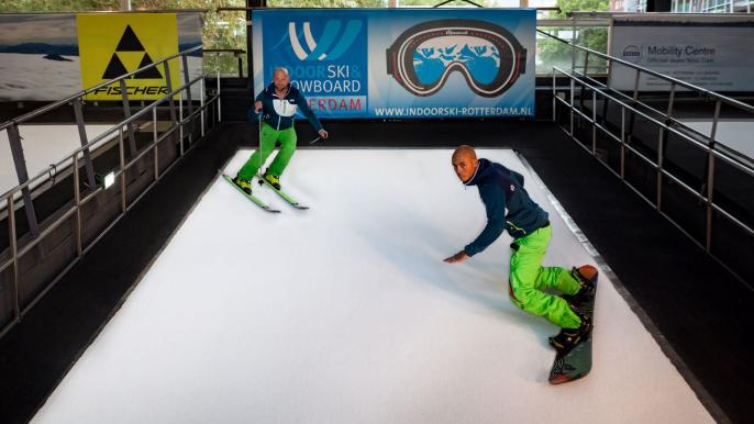 1x 25% korting op een ski- of snowboardcursus (5 lessen)