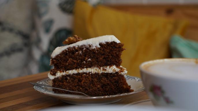 1x 50% korting op een stuk taart