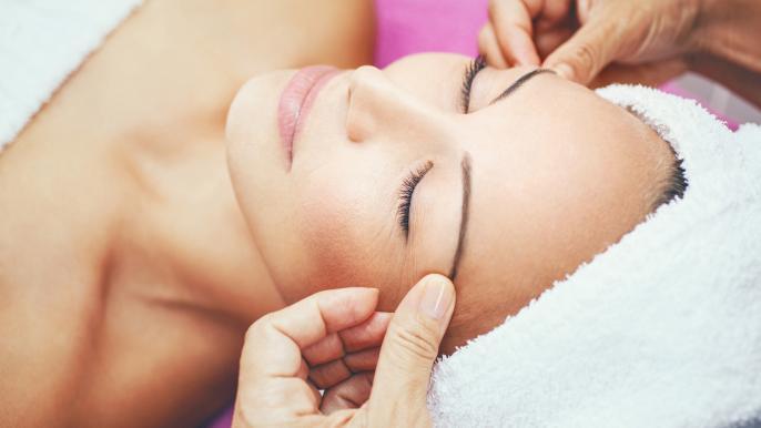 onbeperkt 25% korting op een gezichtsbehandeling