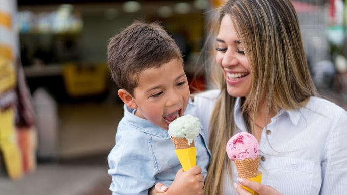1x een gratis ijsje met 1 bol