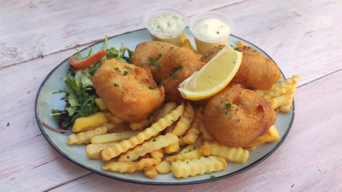 1x 50% korting op fish & chips
