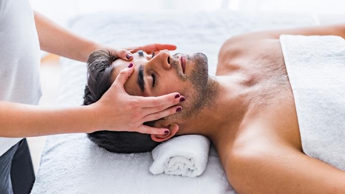onbeperkt 50% korting op een hoofd-, schouder- en handmassage