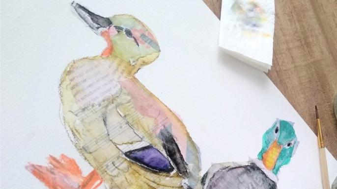 1x 50% korting op een online cursus vogels tekenen