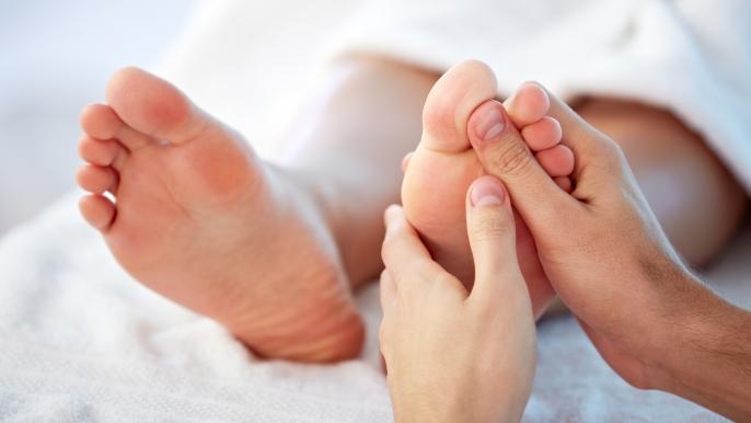 onbeperkt 50% korting op een voetreflexmassage