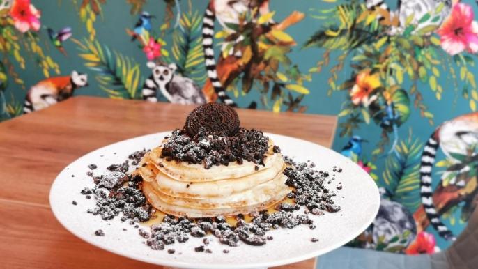 onbeperkt 50% korting op de 'Bring me to Oreo heaven'-pancakes