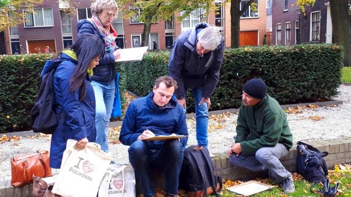 1x 25% korting op de tekentour 'Rotterdam historisch Delfshaven'