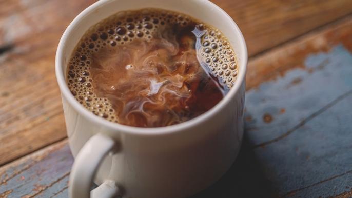 1x 50% korting op koffie met een sprits